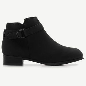 Black Faux Suede Booties in Size 9